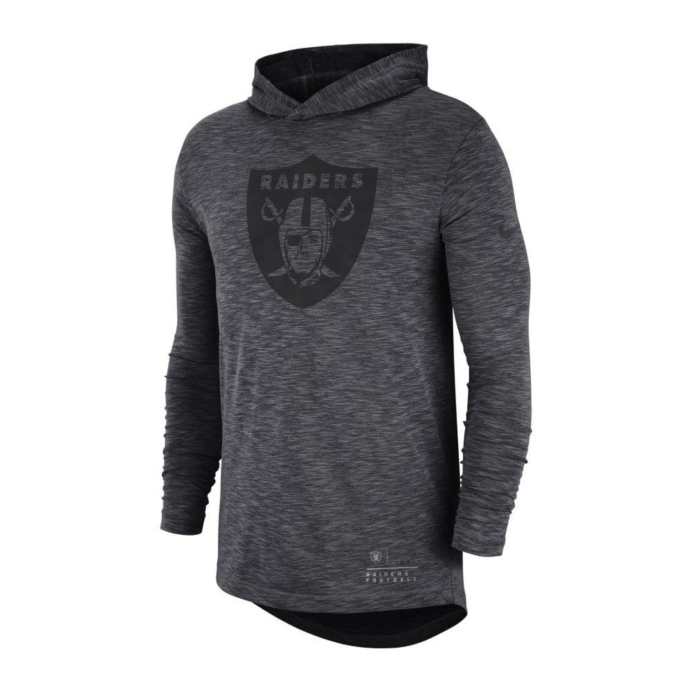 eb205edd3 Nike NFL Oakland Raiders Slub Long Sleeve T-Shirt Hood - Teams from ...