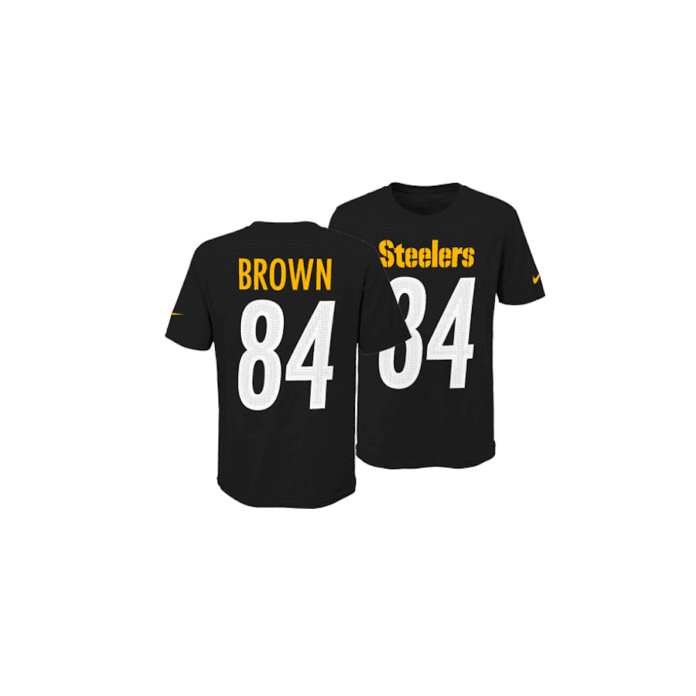 7eabb54b6d4 NFL Pittsburgh Steelers Antonio Brown Youth Pride Name and Number 3.0 T- Shirt
