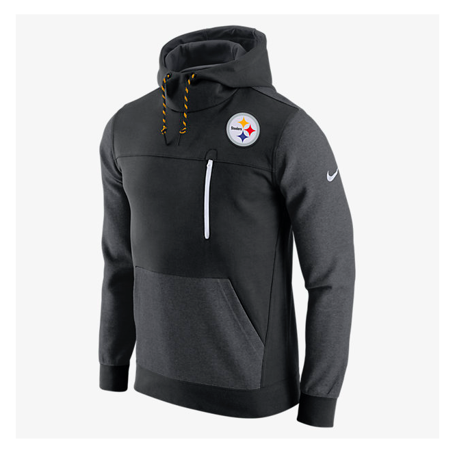 Nike Nfl Pittsburgh Steelers Av15 Fleece Pullover Hoodie