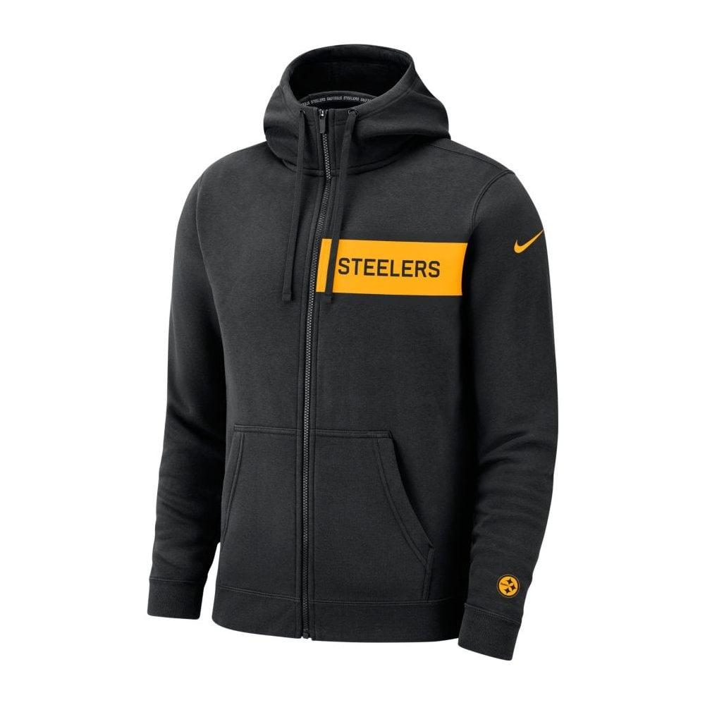 promo code 642e7 98655 NFL Pittsburgh Steelers FZ Fleece Club Hood