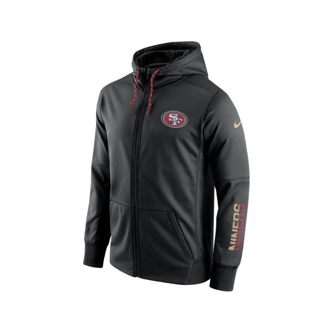 Nike NFL San Francisco 49ers Sideline Circuit Full-Zip Performance Hoodie