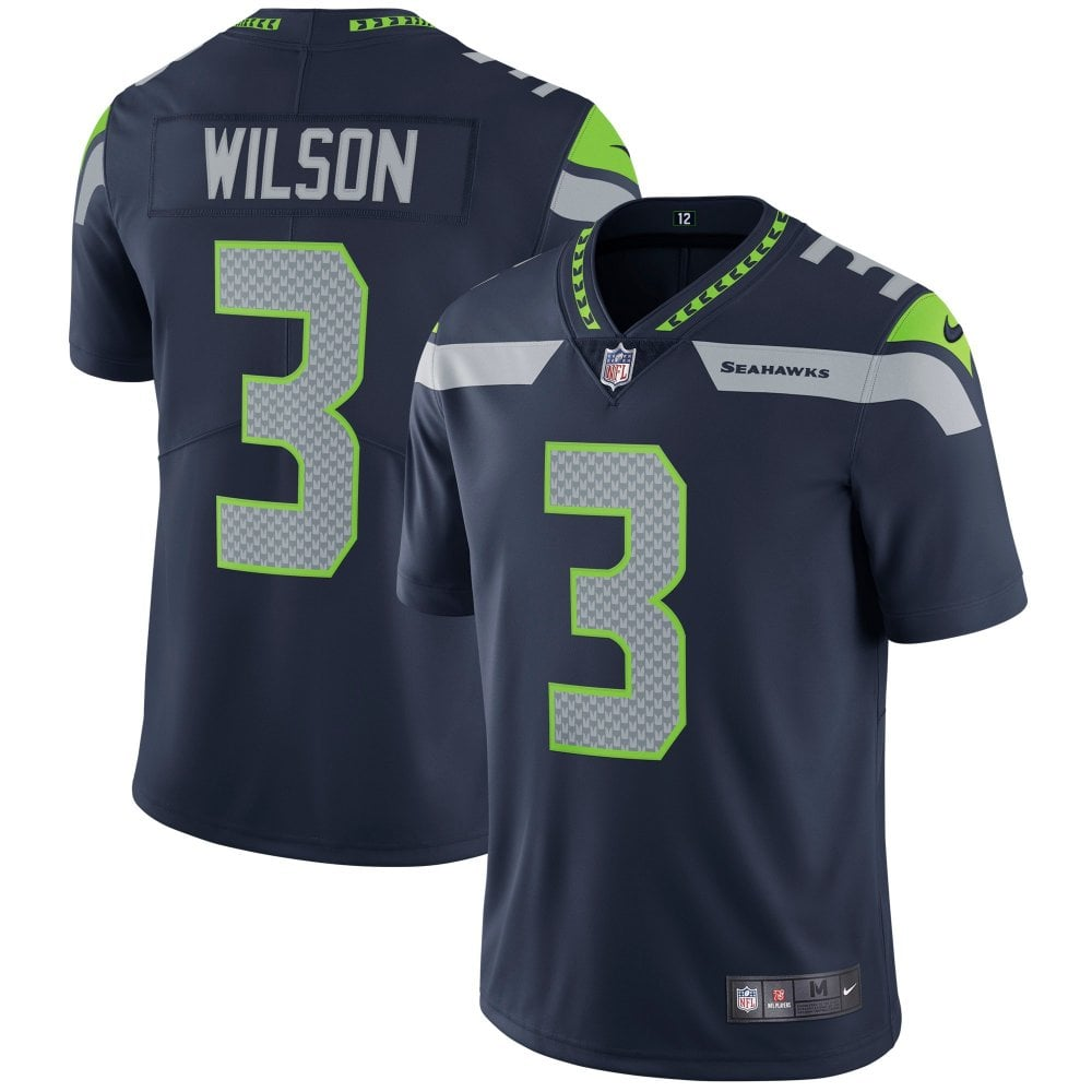 8914f75f9 NFL Seattle Seahawks Home Vapor Untouchable Limited Jersey - Russell Wilson
