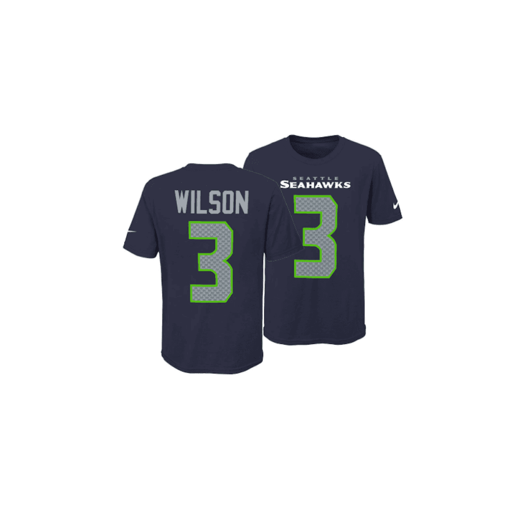 save off 56d7a 0d4e0 NFL Seattle Seahawks Russell Wilson Youth Pride Name and Number 3.0 T-Shirt