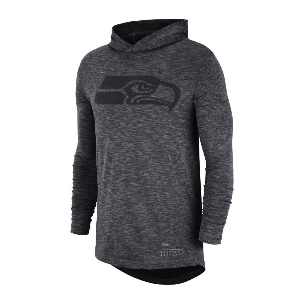 new images of innovative design most popular NFL Seattle Seahawks Slub Long Sleeve T-Shirt Hood