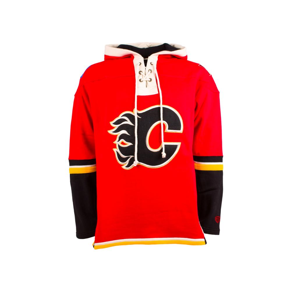 pretty nice f79e1 b2599 NHL Calgary Flames Red Lace Jersey Hood