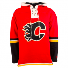 NHL Calgary Flames Red Lace Jersey Hood