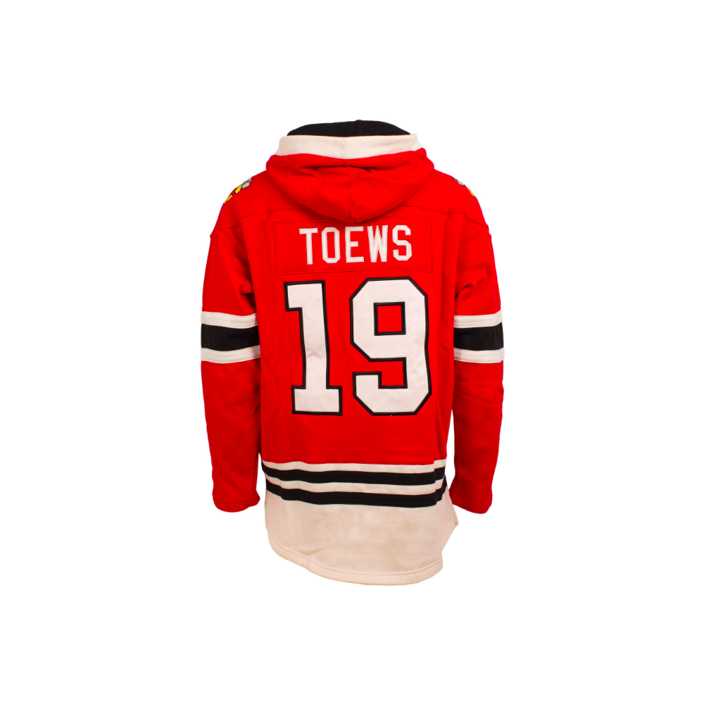 reputable site 658b9 e46e5 NHL Chicago Blackhawks Jonathan Toews Name & No. Lace Jersey Hood