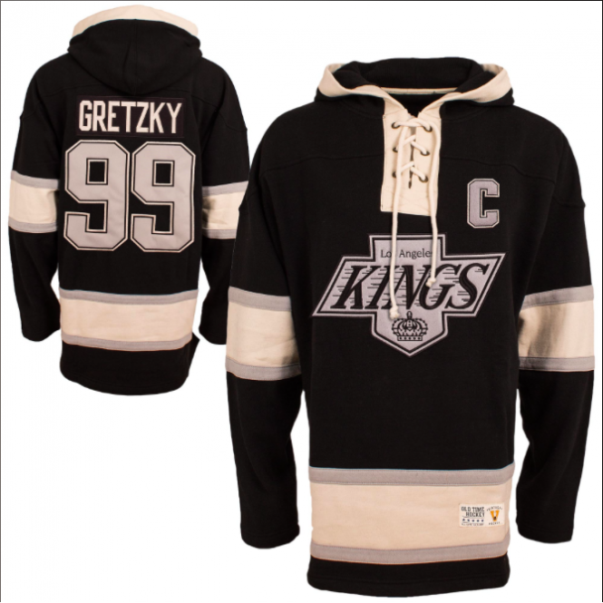 separation shoes 5a119 24780 NHL Los Angeles Kings Wayne Gretzky Vintage Lacer Jersey Hood