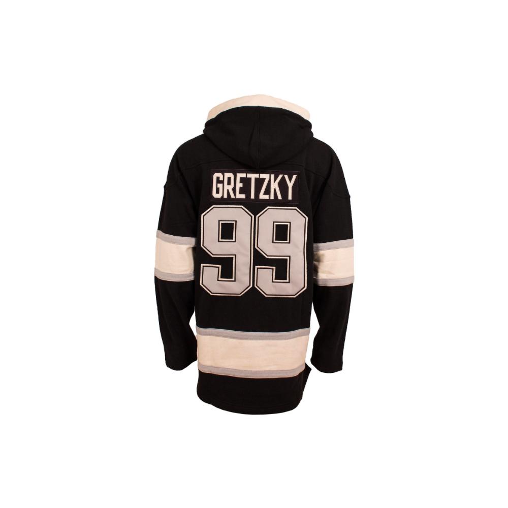 ... Old Time Heidi Hoodie NHL Los Angeles Kings Wayne Gretzky Vintage Lacer  Jersey Hood ... 932edff0c