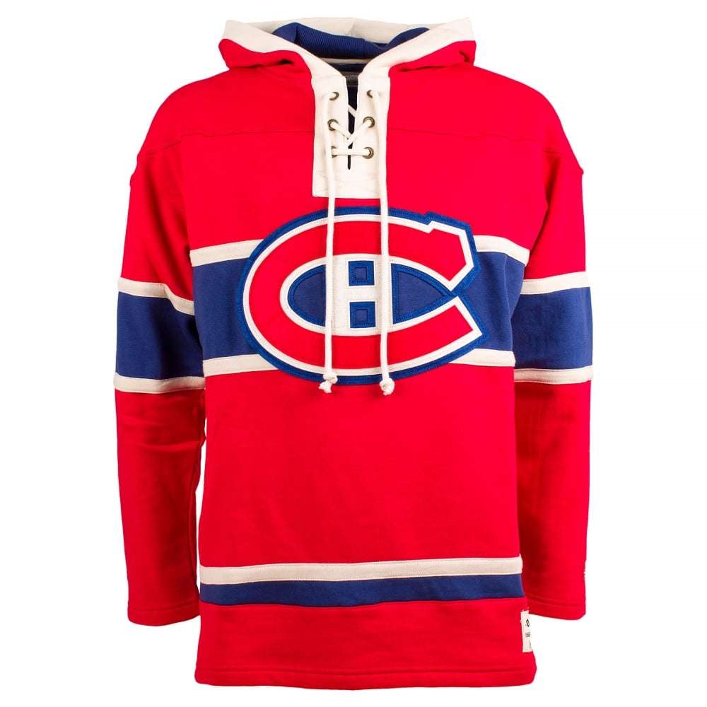official photos f7e3a c384a NHL Montreal Canadiens Red Lace Jersey Hood