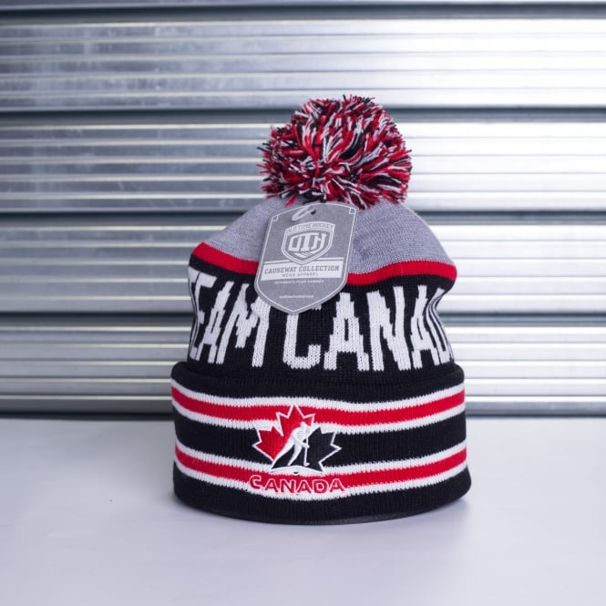 Old Time Hockey NHL Team Canada Storm Pom Beanie Knit