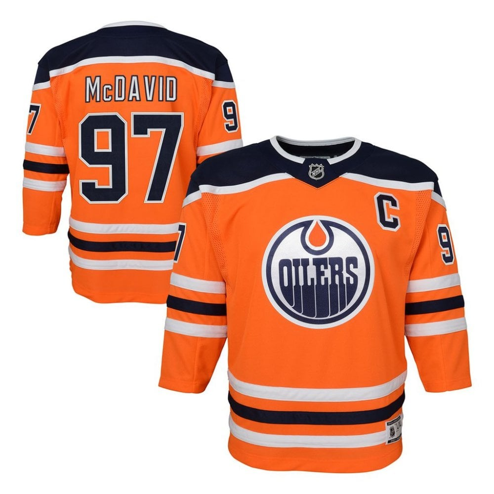 sports shoes f4bed bbbfd NHL Edmonton Oilers Connor McDavid Home Youth Jersey