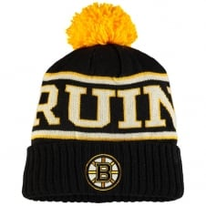 NHL Boston Bruins Face Off Team Cuffed Pom Knit