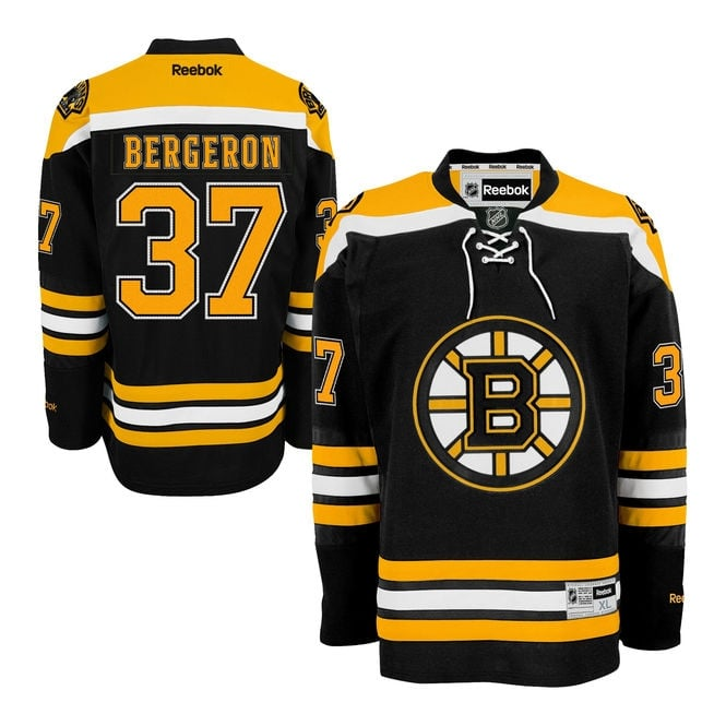 Reebok NHL Boston Bruins Patrice Bergeron Home Premier Jersey