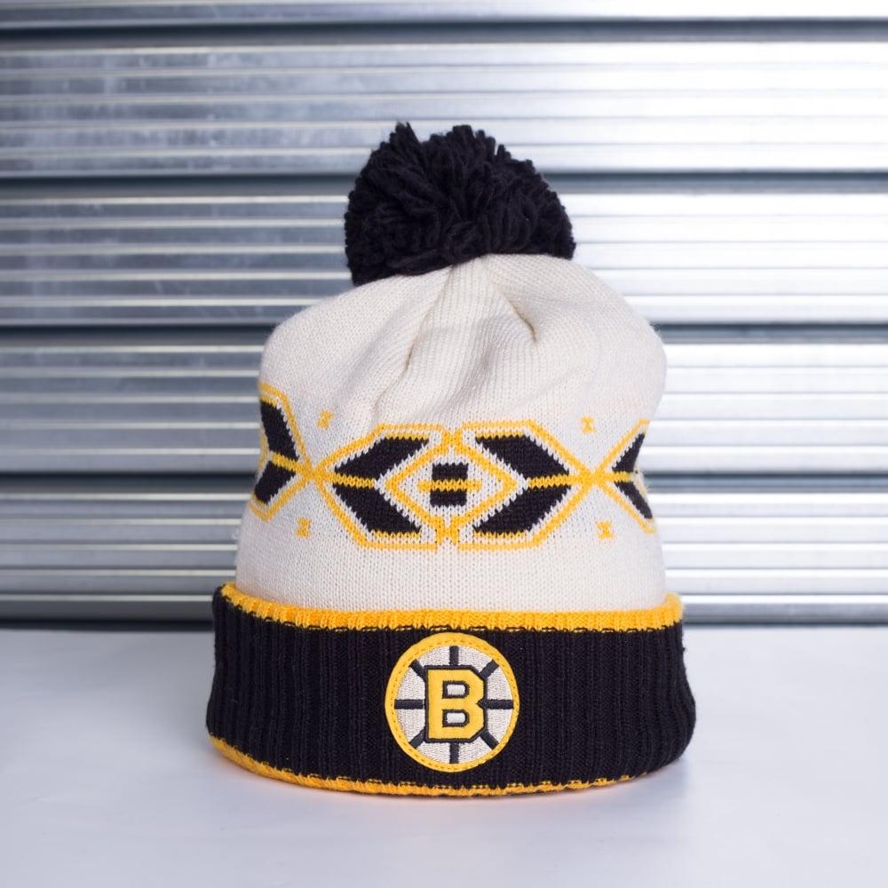6420ba1a046 Reebok NHL Boston Bruins Retro Cuffed Pom Knit - Teams from USA ...