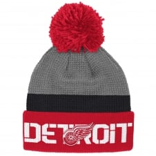 NHL Detroit Red Wings Center Ice Team Pom Knit