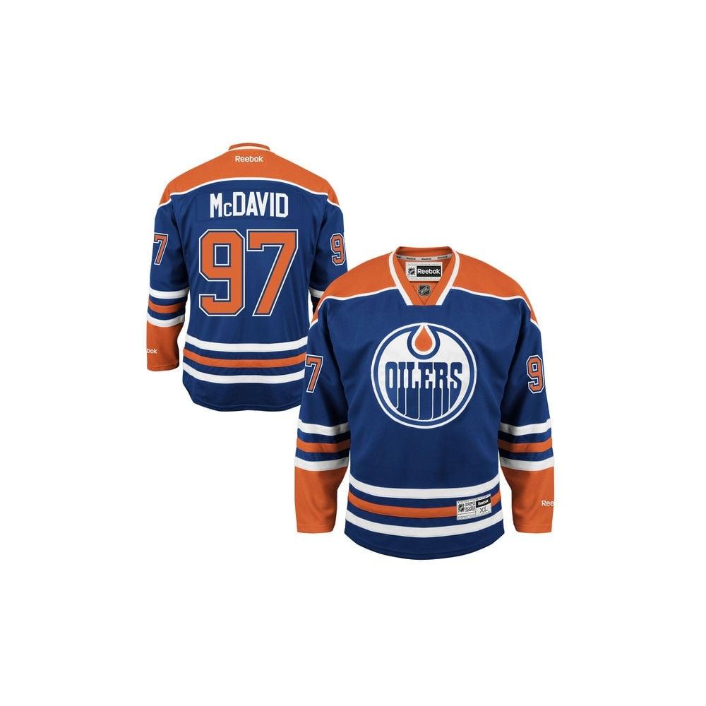 Reebok NHL Edmonton Oilers Connor McDavid Home Premier Jersey ... 4d72dd6db