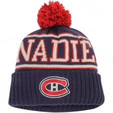 NHL Montreal Canadiens Face Off Team Cuffed Pom Knit