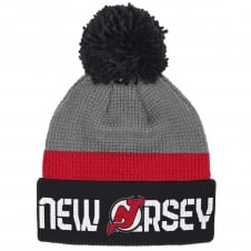 NHL New Jersey Devils Center Ice Team Pom Knit
