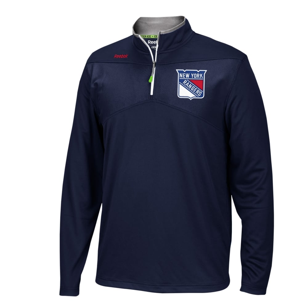 Reebok NHL New York Rangers Center Ice 1 4 Zip Top - Teams from USA ... ae63662f7