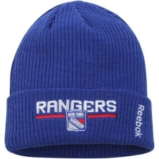 NHL New York Rangers Center Ice Locker Room Cuffed Knit