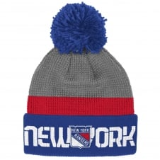 NHL New York Rangers Center Ice Team Pom Knit
