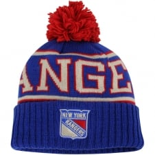 NHL New York Rangers Face Off Team Cuffed Pom Knit