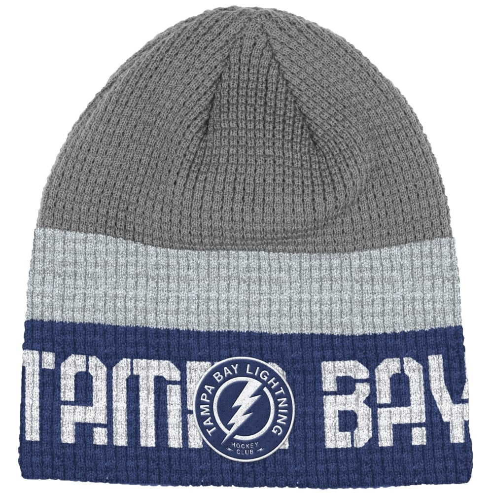 new style b2315 085b2 NHL Tampa Bay Lightning Center Ice Beanie Knit