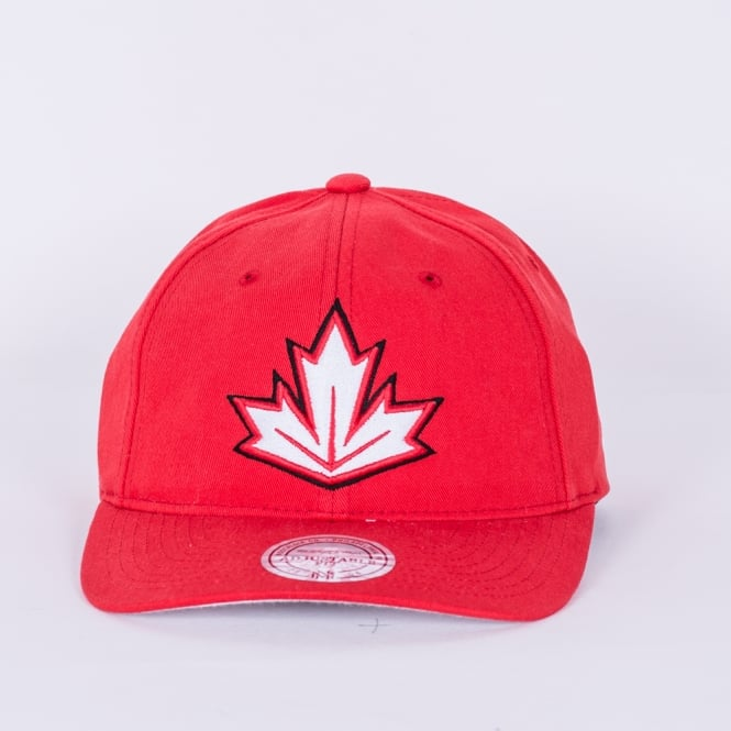 Mitchell & Ness World Cup Of Hockey Team Canada Red Adjustable Backstrap Cap