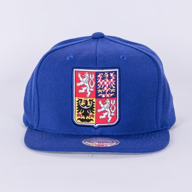 Mitchell & Ness World Cup Of Hockey Team Czech Republic Blue Adjustable Snapback