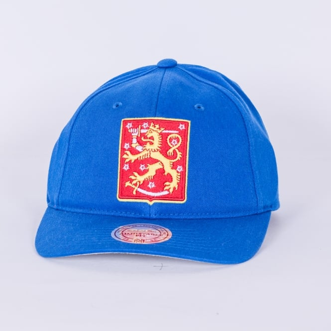 Mitchell & Ness World Cup Of Hockey Team Finland Blue Adjustable Backstrap Cap