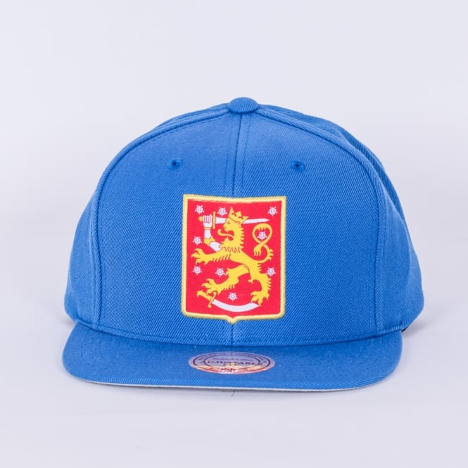 Mitchell & Ness World Cup Of Hockey Team Finland Blue Adjustable Snapback