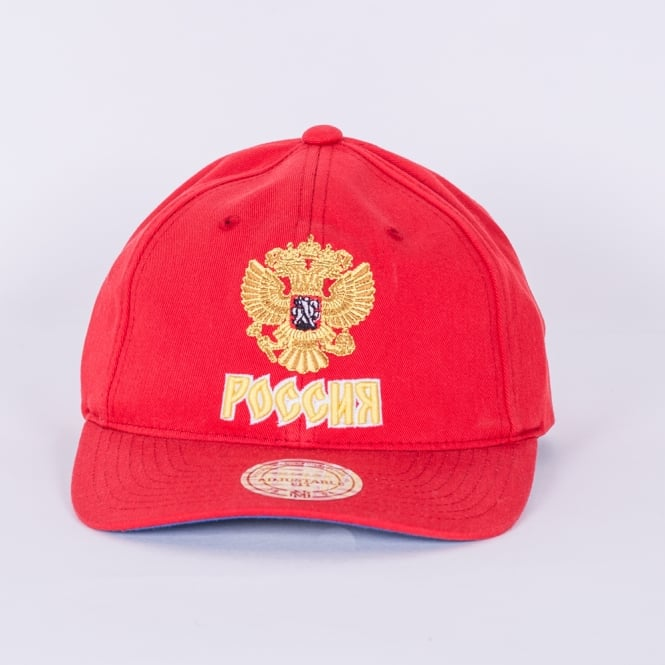 Mitchell & Ness World Cup Of Hockey Team Russia Red Adjustable Backstrap Cap
